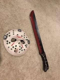 Mask and knife