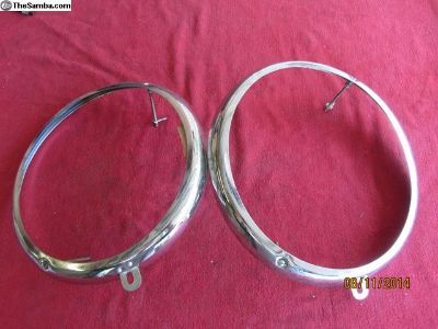 early bug headlight rings
