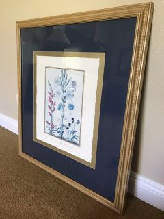 Picture w/ solid wood frame