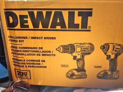New 20 volt max dewalt drill and driver combo