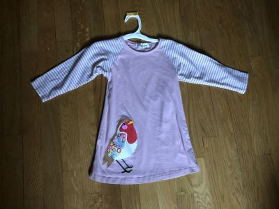 3T-4T dull pink dress with bird