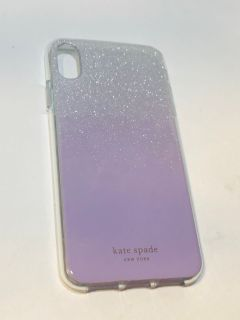 Kate Spade lavender sparkle case for iPhone XS Max $15