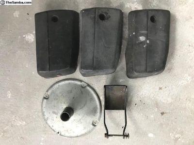 vanagon filler trim, exhaust brackets, bumper caps