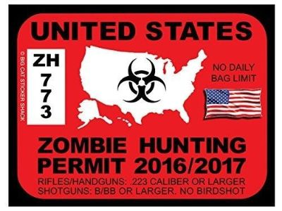 Sell Zombie Hunting Permit - United States (Bumper Sticker) motorcycle in Bend, Oregon, United States, for US $3.99