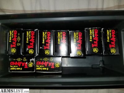 For Sale: 450 Rounds Wolf 9mm 115 grain steel case