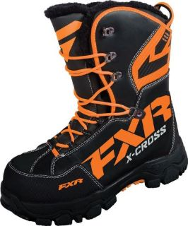 Find FXR-Snow X Cross Insulated/Waterproof Boots,Black/Orange,Mens US-12 ~16508.30112 motorcycle in Manitowoc, Wisconsin, United States, for US $169.99