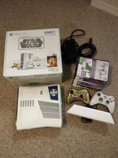 R2D2 Xbox 360 with Kinect and games
