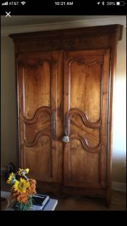 1890s fruitwood French armoire