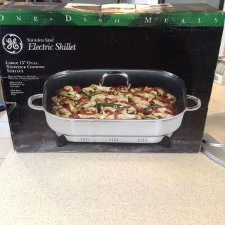 New ) large size electric skillet
