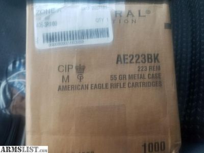 For Sale: 1000 rounds 223 federal