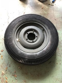 Three Jeep Willy s tires