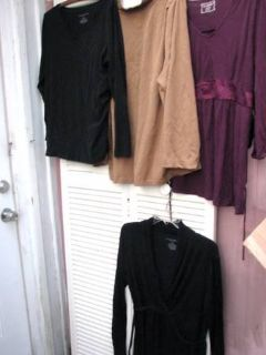 5 Maternity Tops,1 dress XL Motherhood Liz, etc  Exerc. DVD