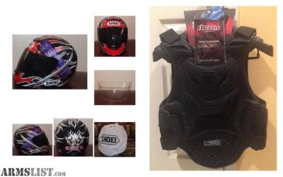 For Trade: shoei helmet & Icon stryker back armor