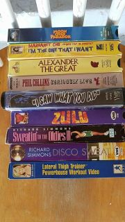 9 VHS tapes
