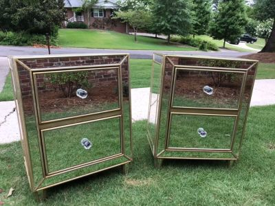 Mirrored night stands/end tables