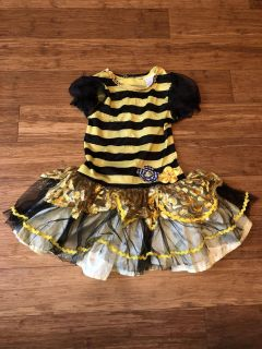 Bee 2t/3t dress with wings