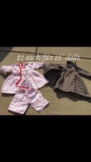 """Doll clothes for 18"""" doll lot"""