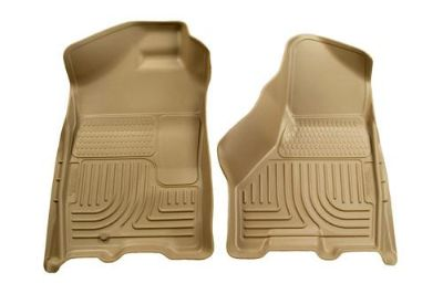 Sell Husky Liners 18033 03-08 Dodge Ram Tan Custom Floor Mats 1st Row motorcycle in Winfield, Kansas, US, for US $96.95