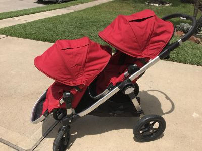 City Select double tandem stroller- ruby