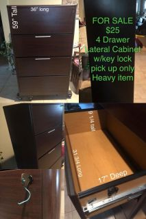 4 drawer lateral cabinet