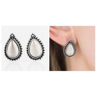 PAPARAZZI WOULDN T GLEAM ON IT EARRINGS IN WHITE PEARL NWT