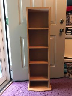 Stand for dvds, CDs, vhs, books.