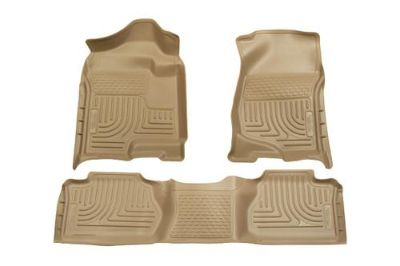 Sell Husky Liners 98213 2007 Chevy Silverado Tan Custom Floor Mats 1st, 2nd Row motorcycle in Winfield, Kansas, US, for US $170.95