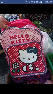 Hello kitty brand new backpack on wheels