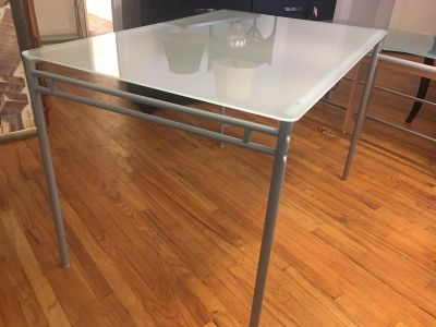 Ikea glass frosted table