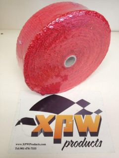 """Find XPW RED 2""""x50' Exhaust Pipe/V8.V6 Header Wrap & Ties Go Kart/Dirt Chassis/Wheels motorcycle in Atoka, Tennessee, US, for US $35.90"""