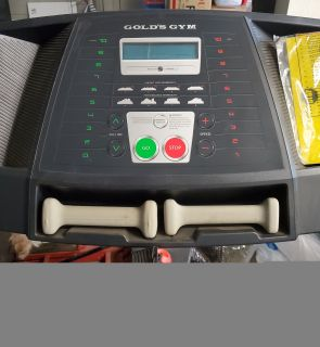 Gold's Gym Treadmill w/ hand weights!