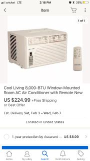 Two NEW Window ac units one small 99 and one big 169
