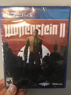 Never Opened PS4 Wolfenstein II The New Colossus