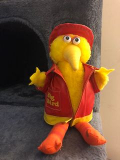 Big Bird stuffy with removable hat and coat