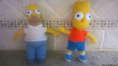 "COLLECTIBLE ""THE SIMPSONS"" BART & HOMER PLUSH DOLLS"