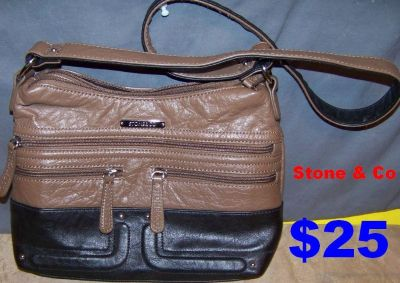 Gently Used Stone & Co Leather Crossbody bag with Adjustable strap