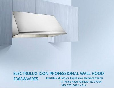 "Electrolux 36"" Wide Professional Wall hood w/ 600CFM Internal Blower"