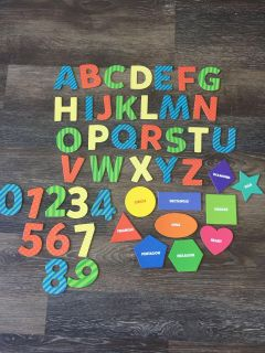 Magnetic letters, numbers and shapes