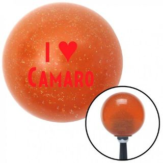 Sell Red I <3 CAMARO Orange Metal Flake Shift Knob with 16mm x 1.5 Insert rat rod motorcycle in Portland, Oregon, United States, for US $29.97