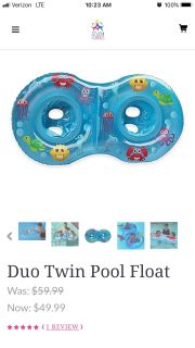 Twin pool float