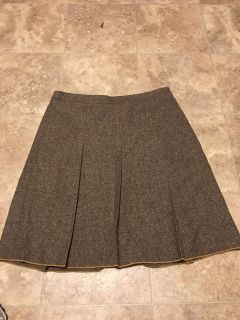 Brow and tan tweed lined skirt Size 12 , $4