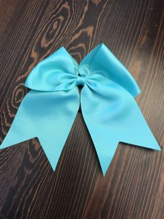 Cheer bow with pony tail back