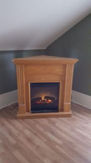 Gorgeous electric corner fireplace