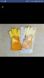 New in bag leather gloves