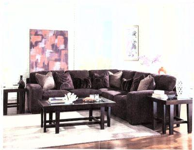 Jackson Plum Gel Foam Steel Tech 3 Piece Sectional Sofa With Pillows