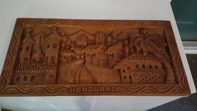 Carved wood picture of Honduras