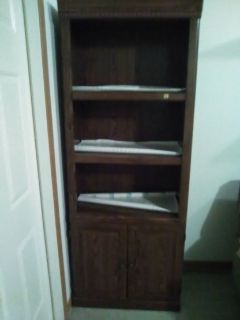 Brown wood cabinet