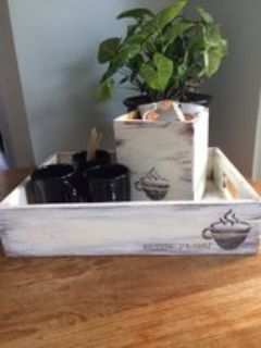Wood coffee tray and Kcup holder