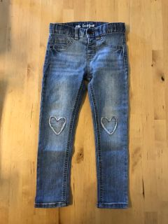 Cat & Jack Heart Knee Jeans