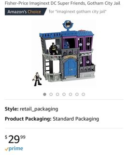 Imaginext Gotham City has working batteries comes with 4 characters $12-